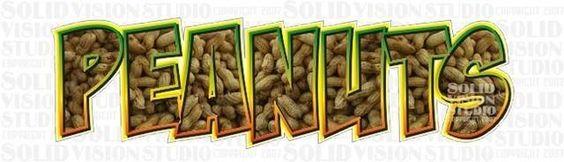 "#SolidVisionStudio Checkit 28"" Decal Peanut Vending Cart Fun Concession Trailer Bar Restaurant Vinyl Sign Decal"