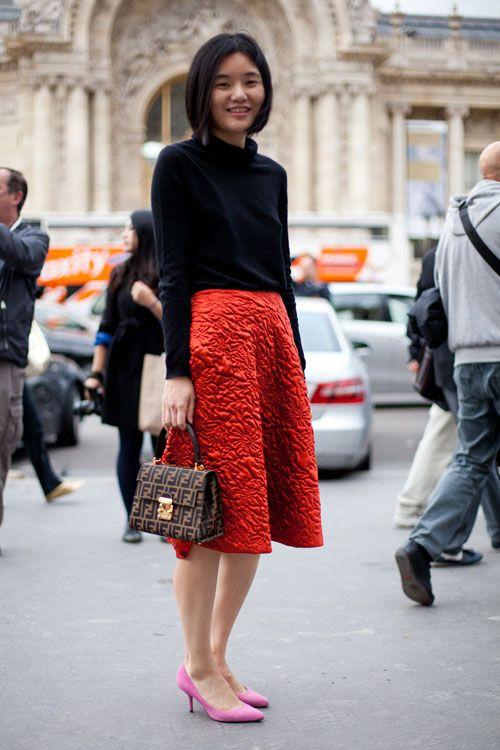kitten heels Street Style Spring 2013 - Paris Fashion Week Street Style - Harper's BAZAAR