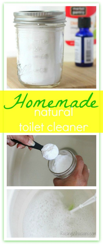 Lemon Rosemary Natural Toilet Cleaner DIY + Bathroom Toilet Spring Cleaning Tips #SpringClean16 #Walmart (ad)