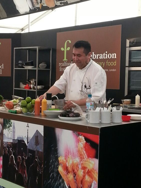 Head Chef Robert Ortiz sharing his passion for Peruvian food