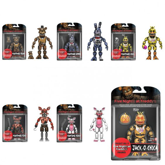 Set Of 6 Funko Five Nights At Freddy S Fnaf 5