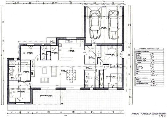 17 Best images about Plan Maison Plein Pied on Pinterest House