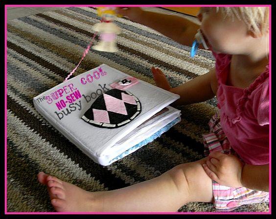 Sew Can Do: quiet book: No Sew Quiet Book Ideas, Bugaboo S Hot, Glue Guns, Quiet Books, Diy Quiet Book Ideas No Sew, Picture Book