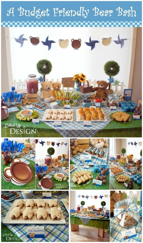 Bear Party - adorable Teddy Bear Picnic ideas on a budget. So many clever DIY ideas here! Perfect for a baby shower or birthday party.