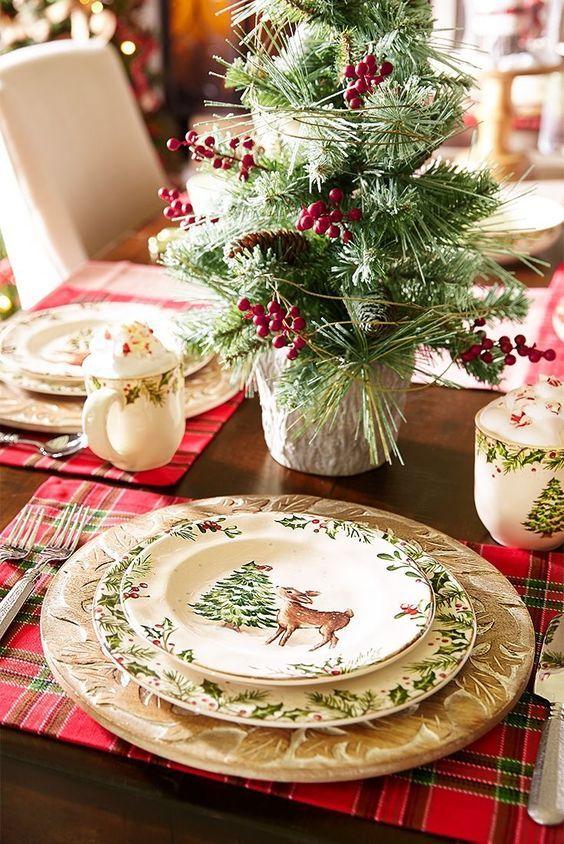 Diy Christmas Decorations And Crafts To Make This Year Christmas Table Decorations Christmas Dinnerware Christmas Entertaining