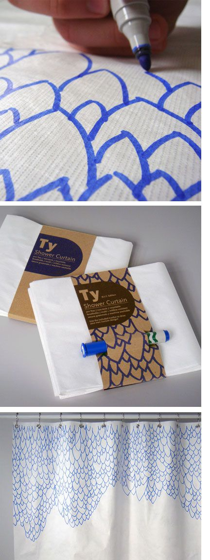 These Tyvek Shower Curtains Could Make Cool Curtains For The Home Pinterest Cool Curtains