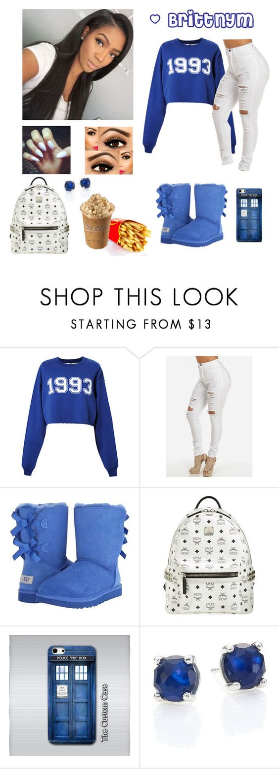 """""""@Brittnym royal Blue"""" by brittnym ❤ liked on Polyvore featuring MSGM, UGG Australia, MCM, Samsung and Ippolita"""