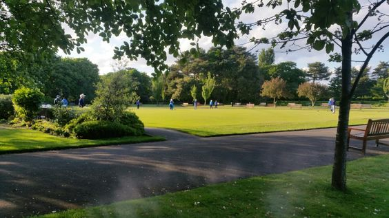 Crown green bowling in Lowther gardens.  How quintessentially British.