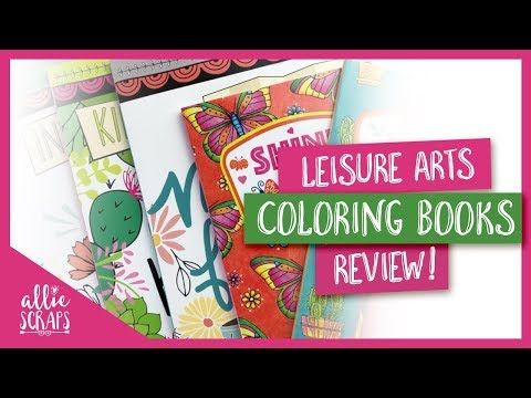 Coloring Book Review Leisure Arts Coloring Books Youtube Coloring Books Leisure Arts Art