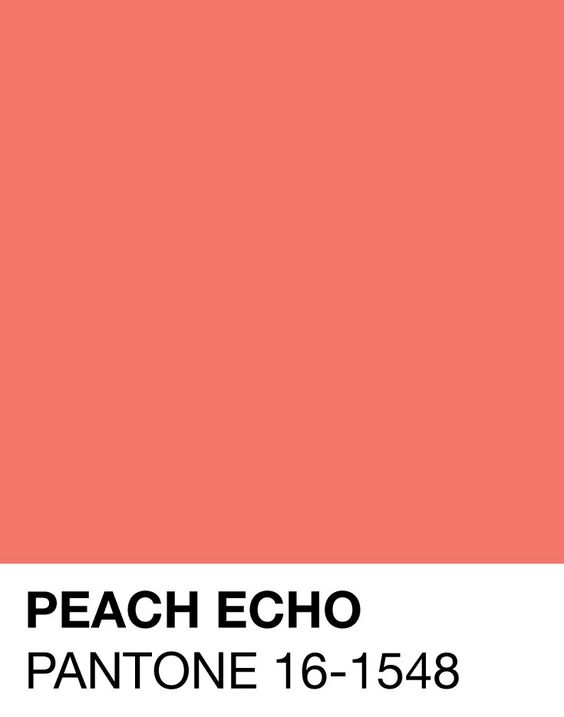 Peach Echo Pantone 16-1548 Spring/Summer 2016: