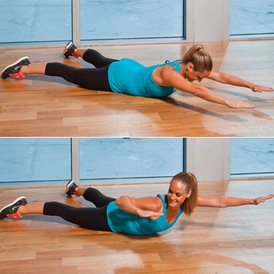 """Top 10 Moves to Tone Your Trouble Zones~  arm flab, bra/ back fat, muffin top, love handles, saddlebags, inner/ outer thighs, """"thutt"""", calves/ ankle strengthening"""