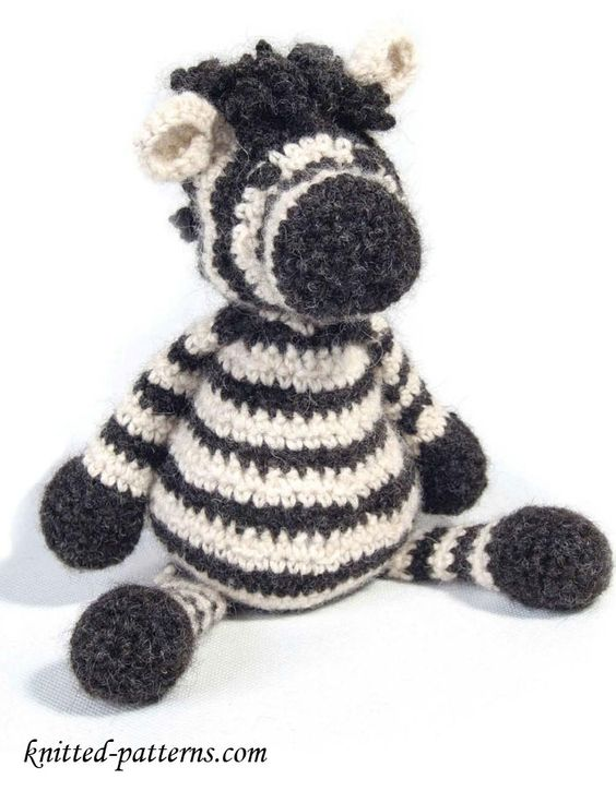 Free Online Crochet Patterns For Toys : Zebras, Crochet patterns and Toys on Pinterest