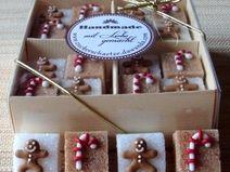 Zucker Würfel Lebkuchenmann Zuckerstange Weihnacht