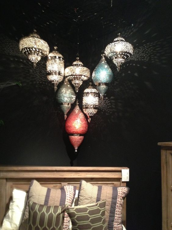 Colorful lights by Four Hands Furniture. // www.KeyHomeFurnishings.com in Portland, Or