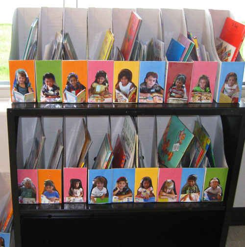 Print out photos of your students to make their own homework boxes.   36 Clever DIY Ways To Decorate Your Classroom