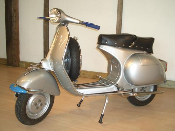 This is a 1957 Vespa GS150 VS3. A vintage scooter with a classic look.   #classic #vespa #scooter