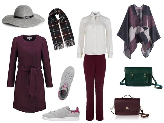 Fall Fashion Fix based on berry and burgundy tones with lovely checkered patterns. Just love jewel tones for autumn...