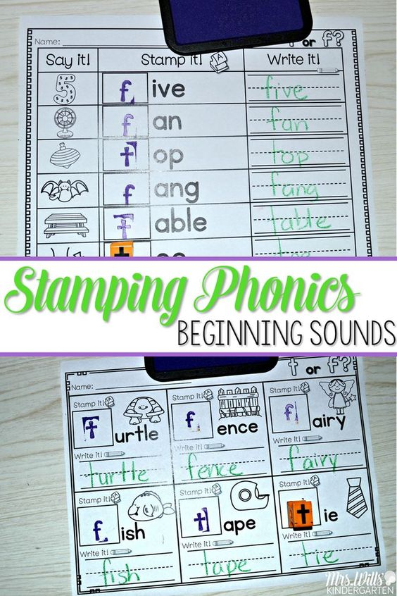 """Phonics fun in a stamping center! Students love using the stamps to create words. This has always been one of my class favorite activities.   This unit will cover beginning sounds. Students will listen for the first sound they hear and stamp the beginning letter. (Exception is """"x""""... that will be the ending sound).  I can cards are included to help with student independence."""