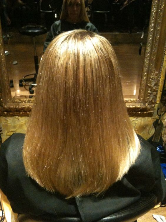 The back of the Client's hair after my Wisdom Extensions