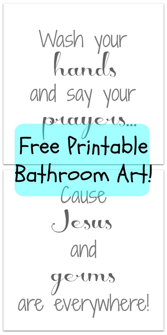 Bathroom Printable How Cute Is This Saying I Love It