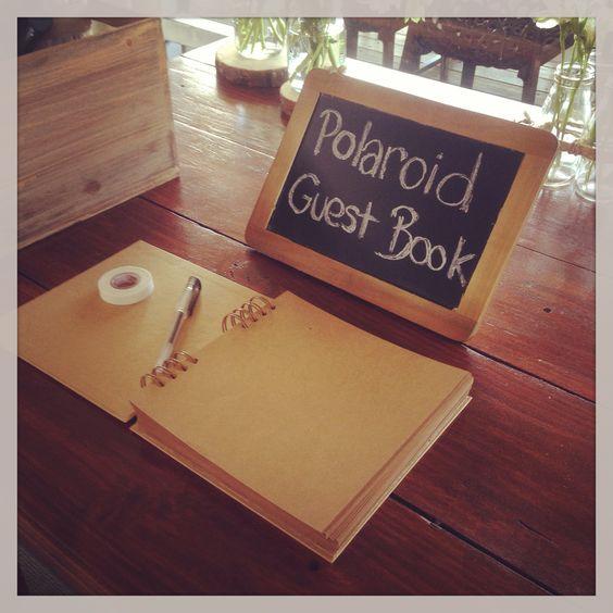 Polaroid Guest Book Ideas: Sweet Polaroid Guest Book!