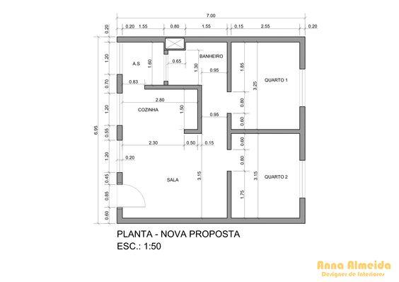 Projeto Residencial: Apartamento de 50 m².