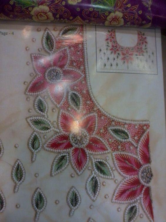 Embroidery aari maggam work my fabric embroidary
