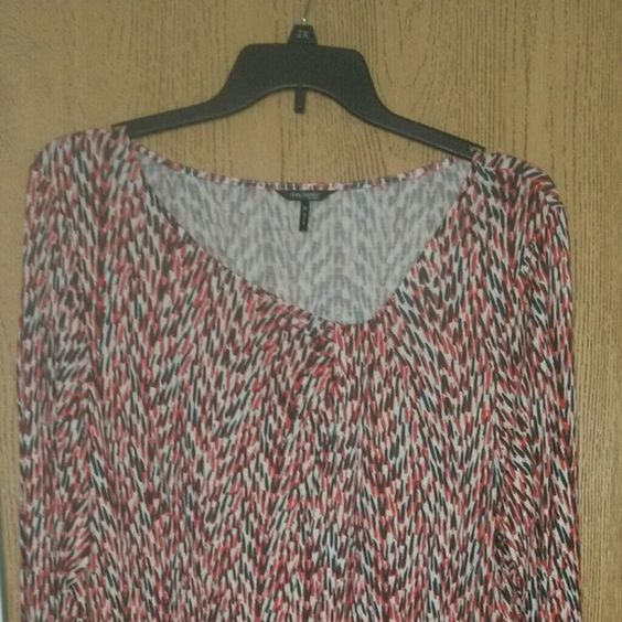 Top Long sleeves with orange, tan and gray designs daisy fuentes woman Tops