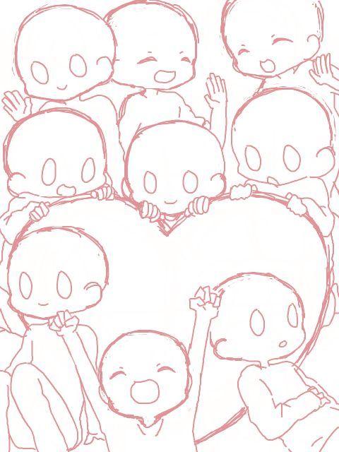 Image Result For Anime Sobbing Base Pose Template Drawing Base