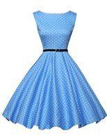 Chic Vintage années 50 's Style Audrey Hepburn Rockabilly Swing robe de fête de pique-nique