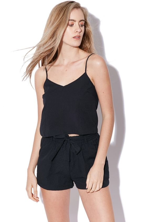 LUCK & TROUBLE Waisted Shorts Black