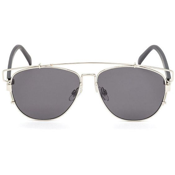 In Shades Flat Brow Bridge Sunglasses CHARSILVER ($7.90) ❤ liked on Polyvore featuring accessories, eyewear, sunglasses, grey, grey sunglasses, aviator glasses, rectangular sunglasses, rectangular aviator sunglasses and rectangular lens sunglasses