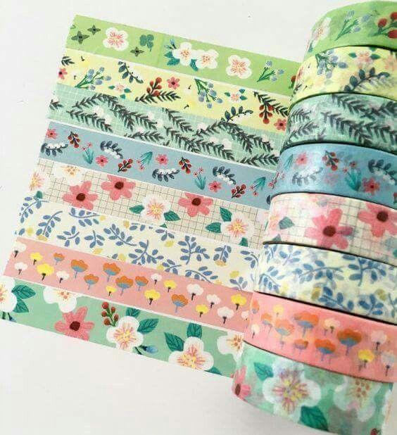 Washi Tape Masking Tape Flower Floral Spring Planner Decoration Scrapbooking Stationery Bullet Journal Supply Decorative Packaging Gift Wrap