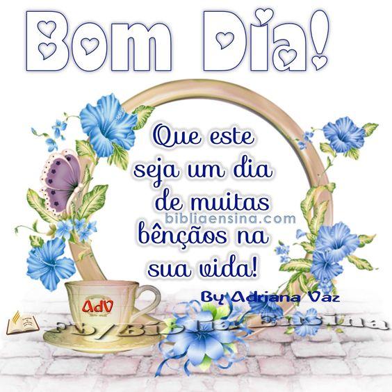 Que este seja um dia de muitas bênçãos na sua vida! #Deus_Abencoe_Voce #Abencoe #Deus