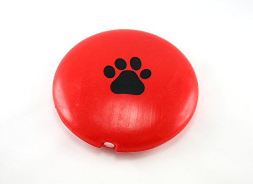 Skyway 6 Inch Flying Frisbee Squeaky Disc Dog Toy Paw Print