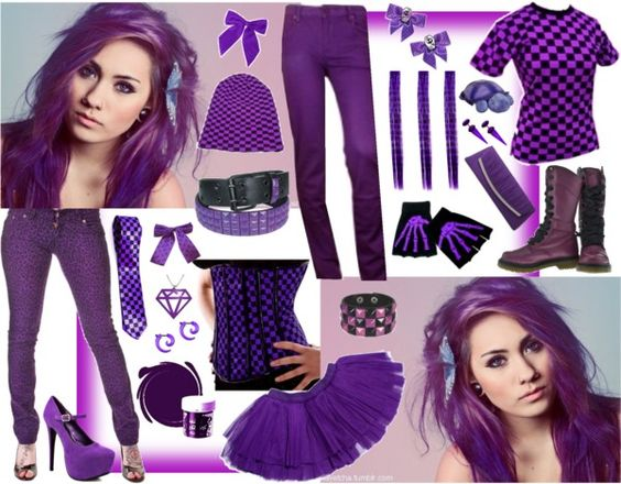 """Sometimes my life is purple"" by emoscene92 ❤ liked on Polyvore"