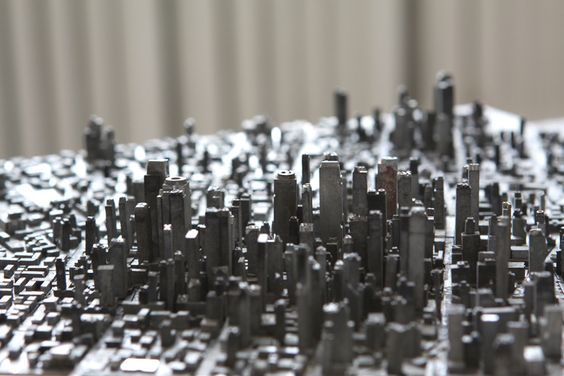 metal type as city i.e. typography becomes topography
