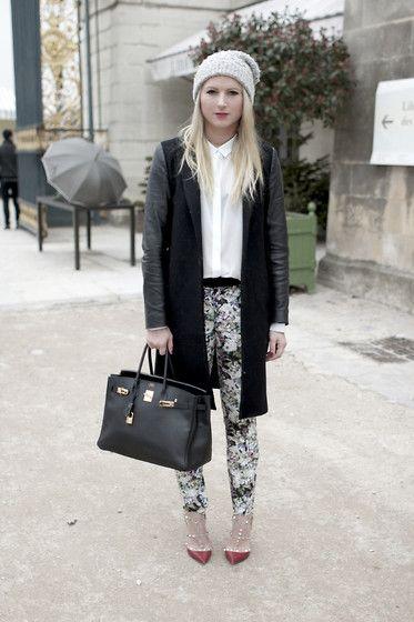 FLORAL PRINTS IN PARIS FASHION WEEK (by EMILIE H) http://lookbook.nu/look/4665821-FLORAL-PRINTS-IN-PARIS-FASHION-WEEK