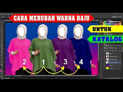 Cara Merubah Warna Baju Dress Untuk Katalog Youtube Gambar Warna