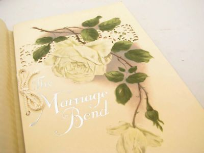 The Marriage Bond Vintage 1920's Wedding Reception Book http://www.luckypennyshop.com/collecting.htm