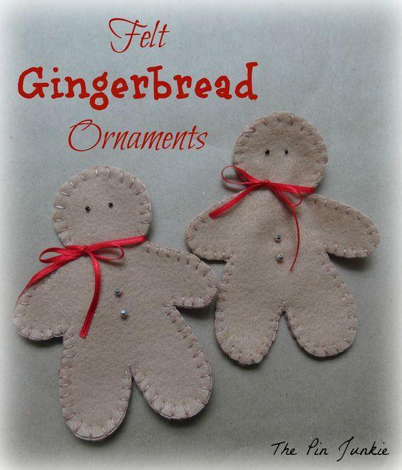 felt-christmas-ornaments gingerbread men