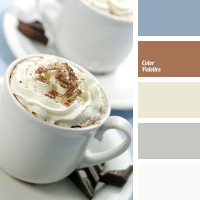 Color palettes light browns and blue colors on pinterest - Gray and cream color scheme ...