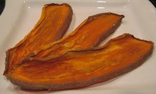 Homemade sweet potato chews