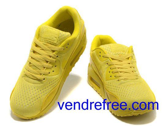 vendre pas cher homme chaussures nike air max 90 couleur jaune en ligne en france chaussure. Black Bedroom Furniture Sets. Home Design Ideas