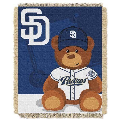 San Diego Padres Jacquard BABY Throw Blanket