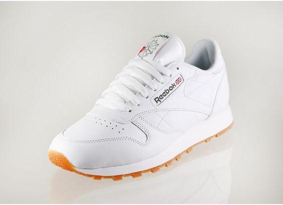 f6c28e6dbfce9 reebok classic leather white gum femme