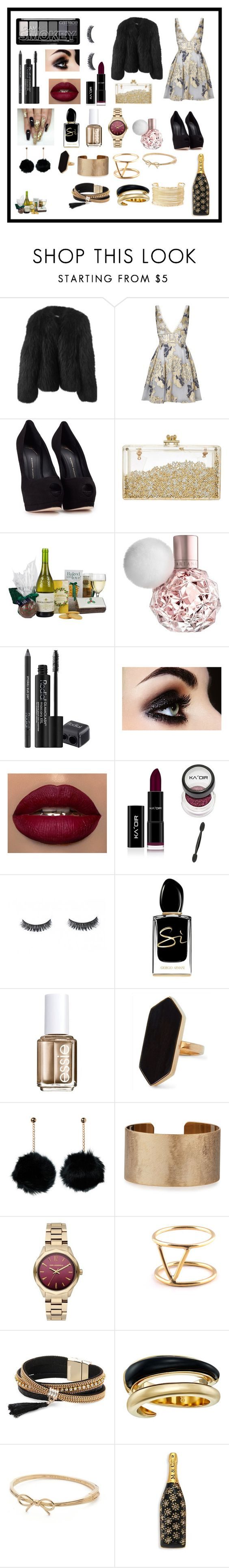 """black gold and white new years eve"" by irenevf ❤ liked on Polyvore featuring Balenciaga, Notte by Marchesa, Giuseppe Zanotti, John Lewis, Rodial, Giorgio Armani, Essie, Jaeger, Panacea and Karl Lagerfeld"