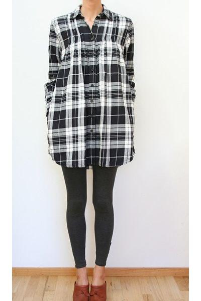 Organic plaid dress