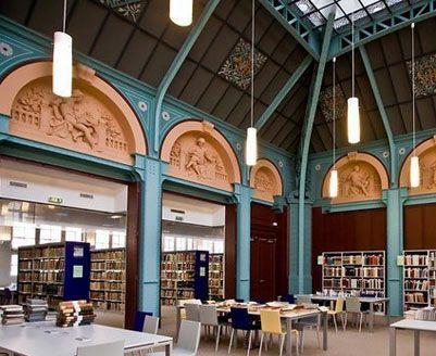 Bibliothèque de la Sorbonne, Universities of Paris.