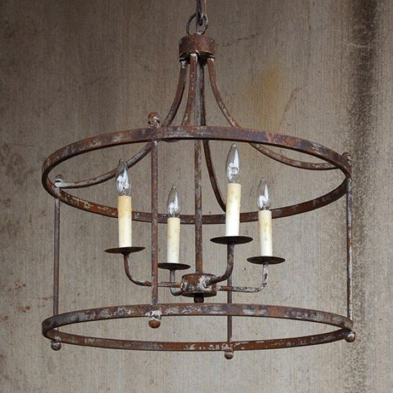 Savannah Large Iron Chandelier Rustic Light Fixtures Iron